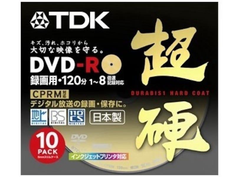 地デジ録画のダビングにはCPRM対応メディアが必要になる。写真はTDK製CPRM対応8倍速対応DVD-Rメディア