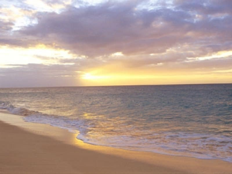 金色の砂浜が続くパポハクビーチ。ひとつづきの砂浜としてはハワイ最長のビーチ(画像協力:ハワイ州観光局)