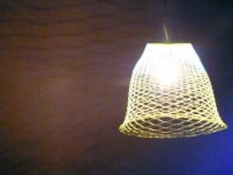 ランプシェードに使った『空気の器』