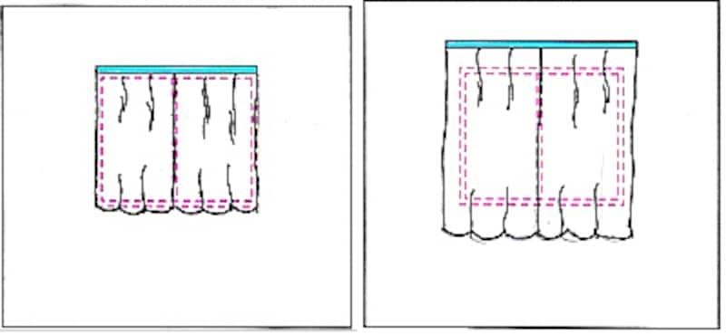 カーテンの吊り方