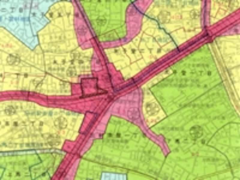 都市計画図の一部