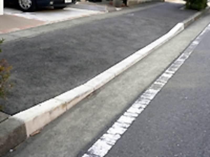 切り下げ工事をした歩道