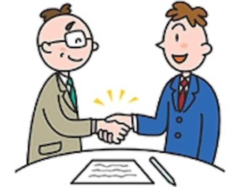 売買契約後の握手