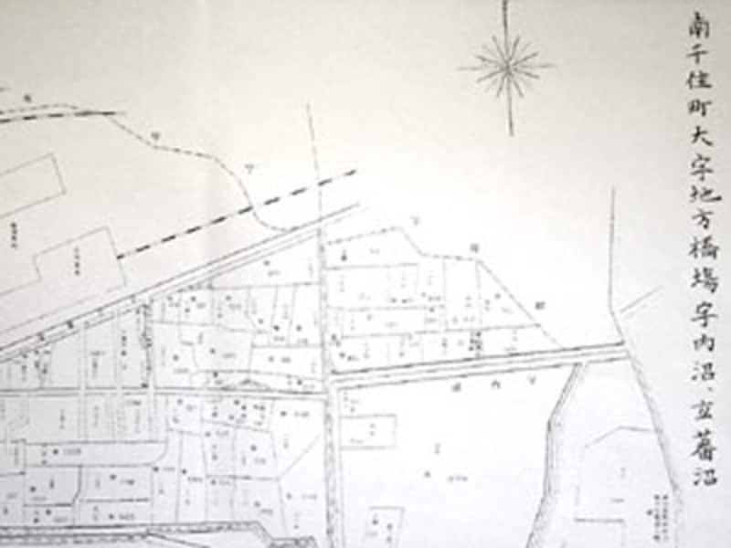古い時代の地籍図