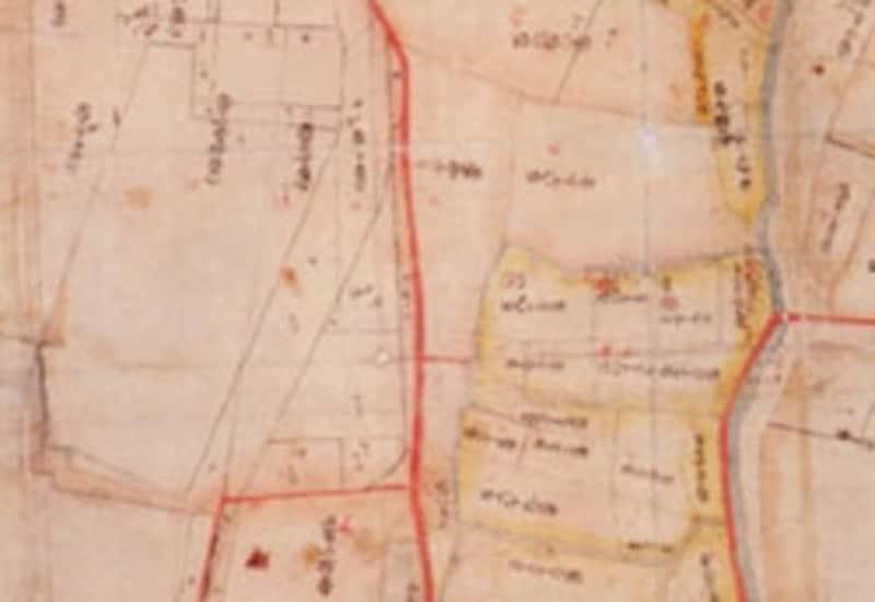 赤道が記載された公図の例