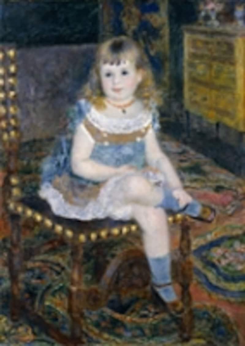 ルノワール《すわるジョルジェット・シャルパンティエ嬢》1876年