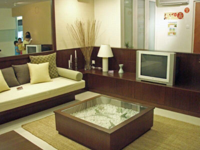 5-Roomのリビングルーム。部屋数が多くなると各部屋の面積も広くなります。