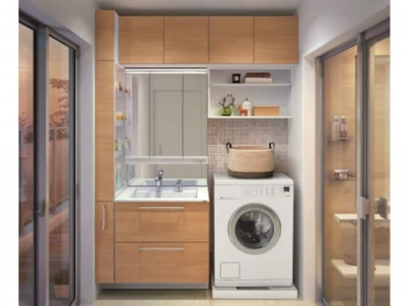 目的に合わせた収納ユニットの組み合わせて、空間を最大限に生かすことができる洗面化粧台。[エスクアLS]undefinedTOTOundefinedhttp://www.toto.co.jp/