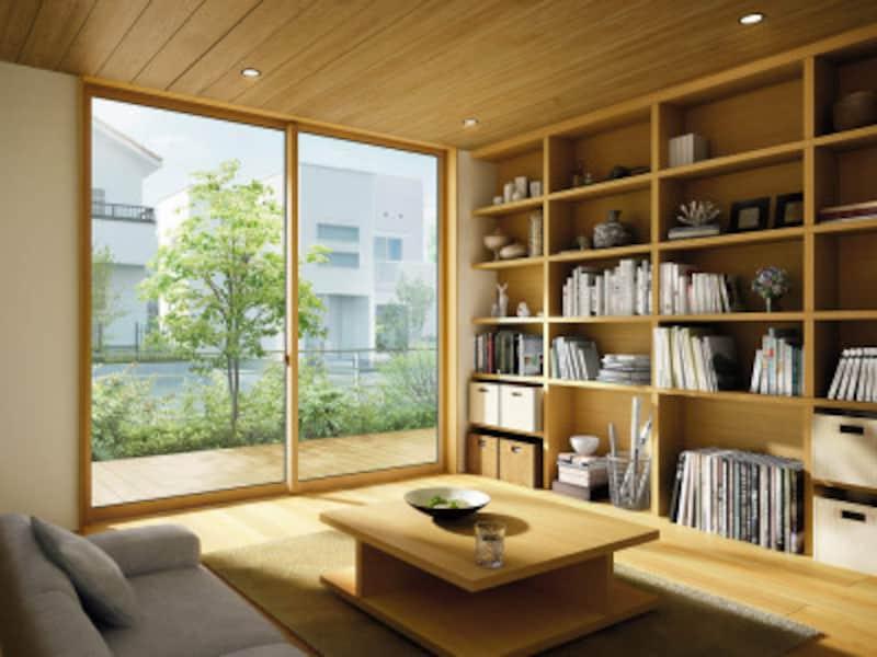 ガラスの性能によって住まいの心地よさは大きく変わる。[エピソードNEOH24引違い窓] YKKAP https://www.ykkap.co.jp/