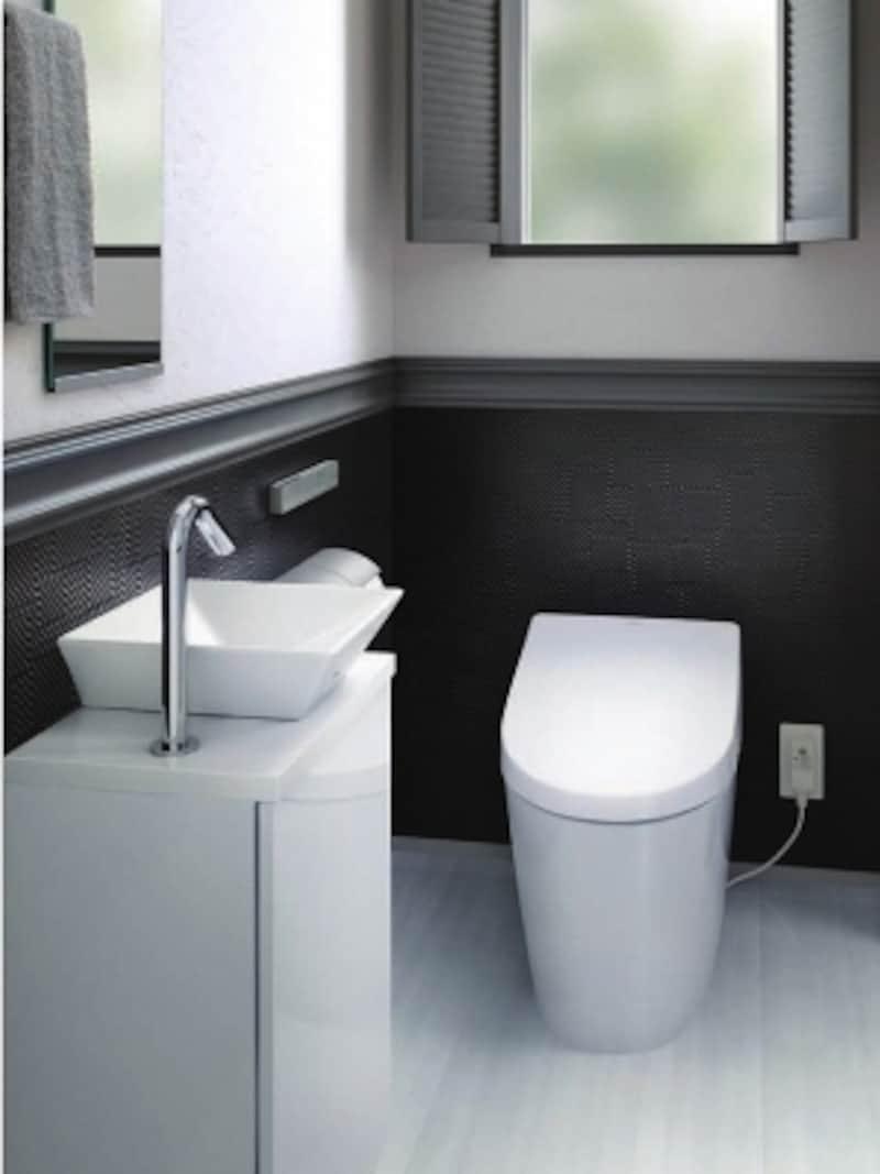 便器一体型タイプはすっきりとしたデザインが魅力。[ウォシュレット一体形便器(タンクレストイレ)undefinedネオレストAH1]undefinedTOTOhttp://www.toto.co.jp/undefined