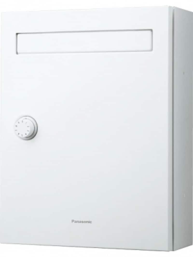 キー不要で施錠・解錠できるダイヤル錠。雨水が内部に入りにくい設計で、幅300mm、奥行もわずか120mmのシンプルデザイン。[サインポストundefinedクリアス-FF]undefinedパナソニックエコソリューションズundefinedhttp://sumai.panasonic.jp/