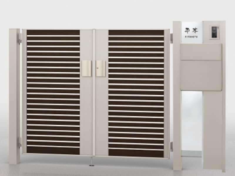 門扉と組み合わせ、存在感のあるデザインに。[ファンクションユニットウィルモダンundefined組み合わせ例15-12]undefinedLIXIL