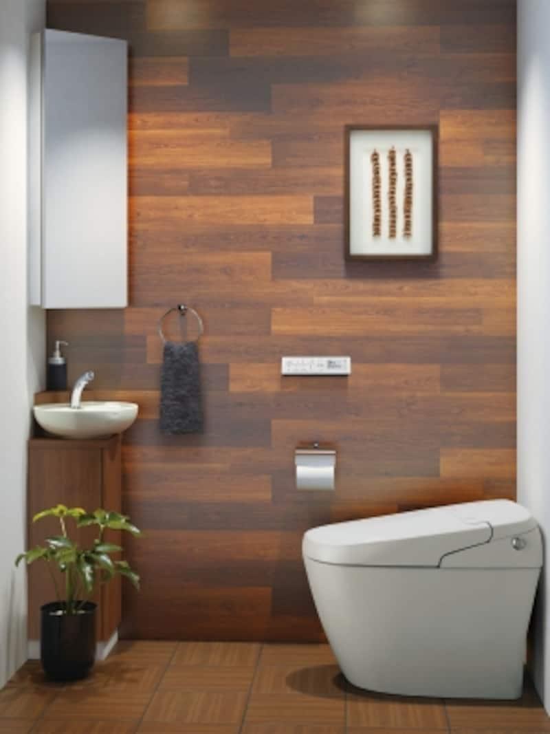 コーナーに設置するので空間を有効活用できる。0.5坪でもゆったりと手を洗うことが可能。収納力のあるキャビネットとミラーキャビネットも。[コーナー手洗キャビネット]undefinedLIXILundefinedhttp://www.lixil.co.jp/
