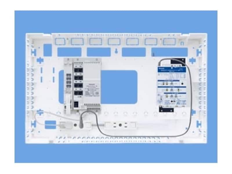 ONU(光回線終端装置)やルーターを本体とまとめて収納可能。壁面に設置することができるので、空間もすっきり。[WTJ4761MMポートALLギガ10/100M/1G]undefinedパナソニックエコソリューションズundefinedhttp://sumai.panasonic.jp/