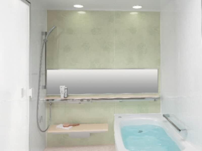 壁のジョイント部をスリムにし、壁裏の出っ張りを抑えた薄型配管を採用、浴室と浴槽のサイズアップを図ったシステムバス。「お掃除ラクラクほっカラリ床」、「お掃除ラクラク排水口(抗菌・防カビ仕様)」などお手入れが楽になるアイテムも。[マンションリモデルバスルームundefinedひろがるWGほっカラリ床シリーズ]TOTOundefinedhttp://www.toto.co.jp/