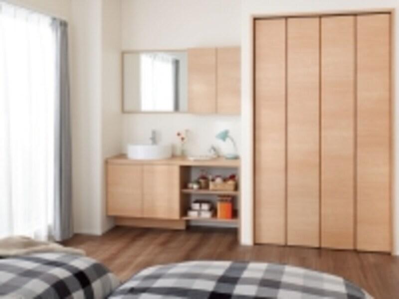 寝室や玄関などにも取り入れやすい、インテリアに調和する家具調のデザイン。[エスタシステムタイプ]undefinedLIXILhttp://www.lixil.co.jp/
