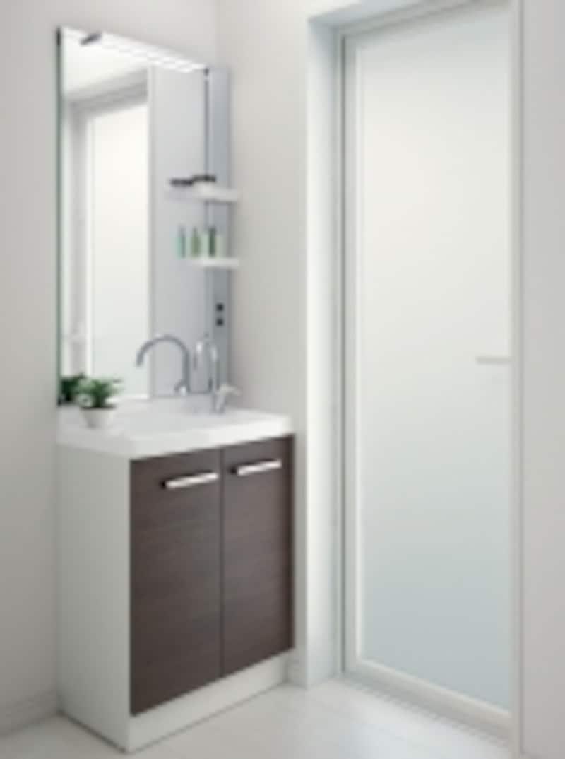 リフォームにも適する、奥行き370ミリのコンパクトな洗面化粧台。[リフラ]LIXILhttp://www.lixil.co.jp/