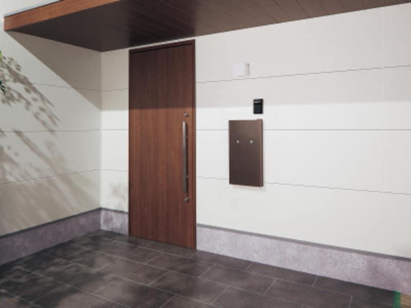 住まいの中から郵便物や宅配物を取り出せる。新築戸建住宅壁埋め込み専用(木造サイディング)。断熱材を使用し、結露に配慮。[戸建住宅用宅配ポストコンボ-intエイジングブラウン色] パナソニック http://sumai.panasonic.jp/