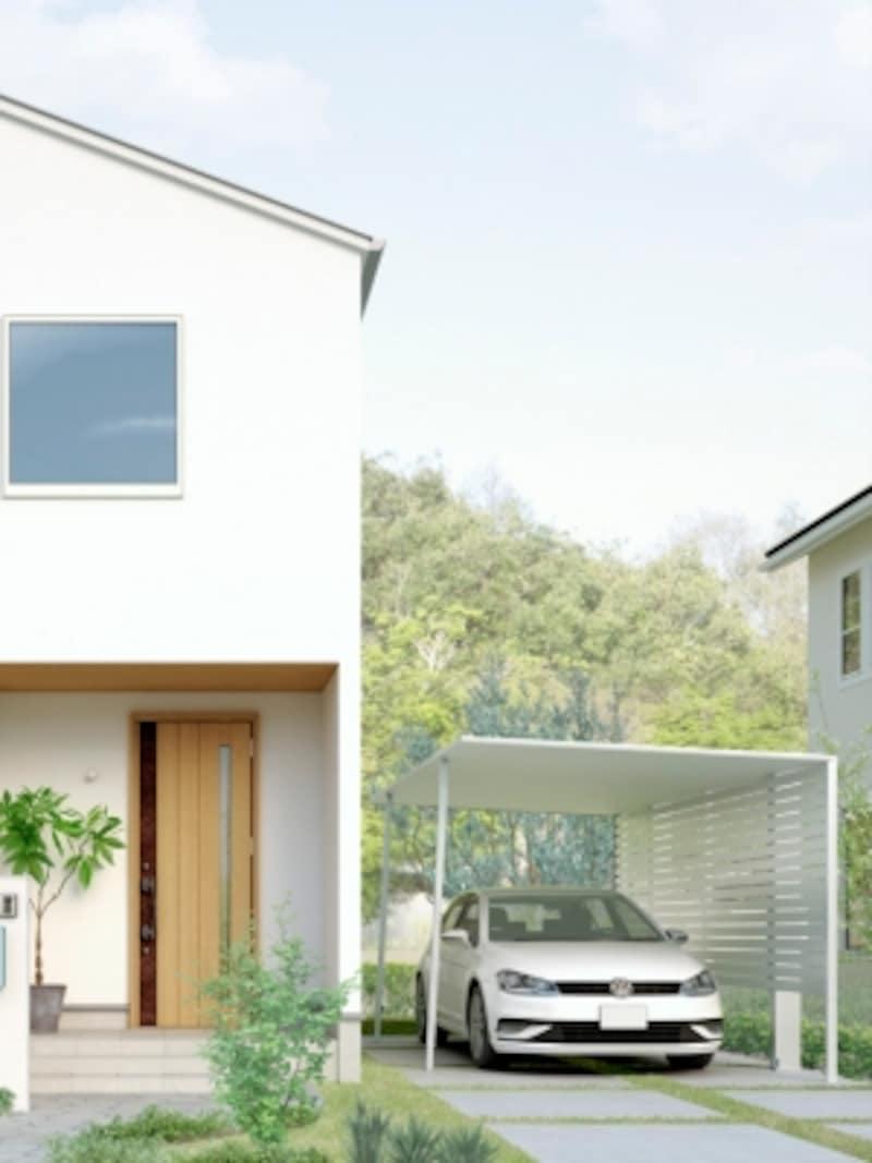 屋根部はすべてアルミを採用、屋根そのものを構造材とし、強度を確保しながら、40mmという薄さも実現。梁が見えない屋根と柱だけのシンプルな構成。[LIXILカーポートSCundefined27-50型undefined柱・梁:ナチュラルシルバーFundefined屋根材:ナチュラルシルバーFundefinedサイドスクリーンH:1600undefined着脱式サポート付き]undefinedLIXILundefinedhttp://www.lixil.co.jp/