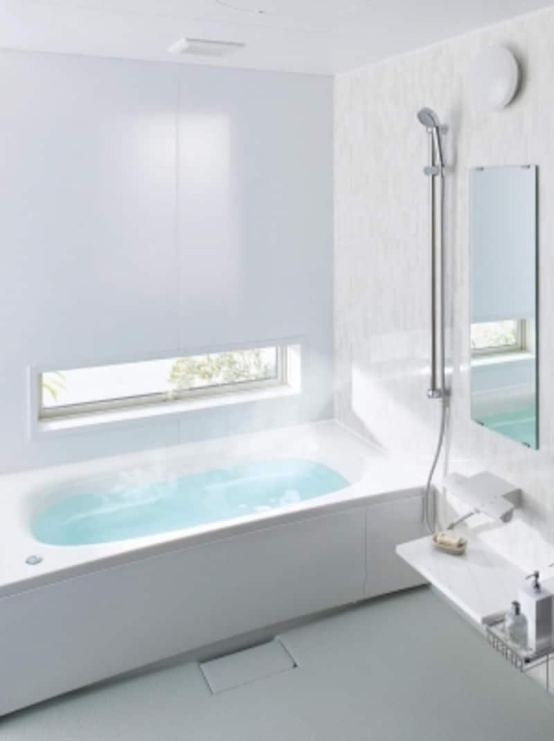 表面が硬くなめらかで汚れがつきにくい特徴を持つ、スゴピカ浴槽(有機ガラス系人造大理石)[オフローラ]undefinedパナソニックエコソリューションズundefinedhttp://sumai.panasonic.jp/