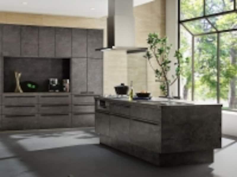 アイランドキッチンにぴったりのシンプルなデザインのレンジフード。[サンヴァリエリシェルSI]undefinedLIXILundefinedhttp://www.lixil.co.jp/