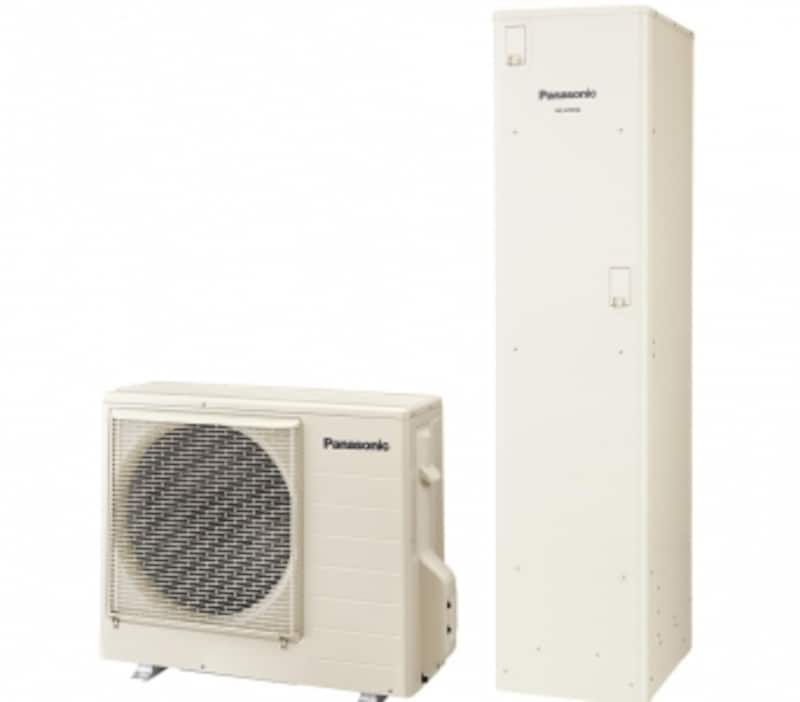 貯湯ユニットのスリム化で従来置けなかった狭いスペースにも設置可能。狭小地、集合住宅でも設置可能な幅44cm・奥行56cm。[コンパクトエコキュートフルオート195L]undefinedパナソニックエコソリューションズundefinedhttp://sumai.panasonic.jp/