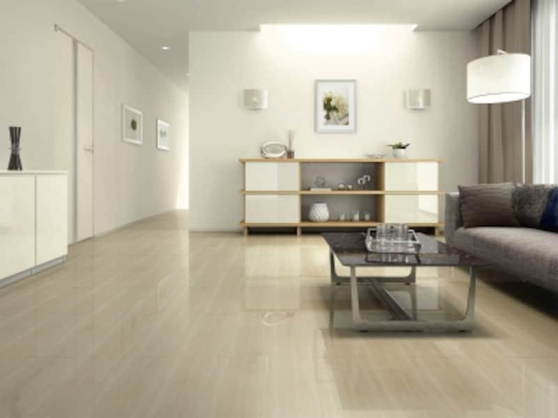 マンション用直張防音床材/特殊加工化粧シート床材。階下への音を軽減する防音床材。広巾デザインが魅力。[ハピアオトユカ45石目柄(180mm幅タイプ)〈グレイッシュセルベ柄〉]undefinedDAIKENhttps://www.daiken.jp/