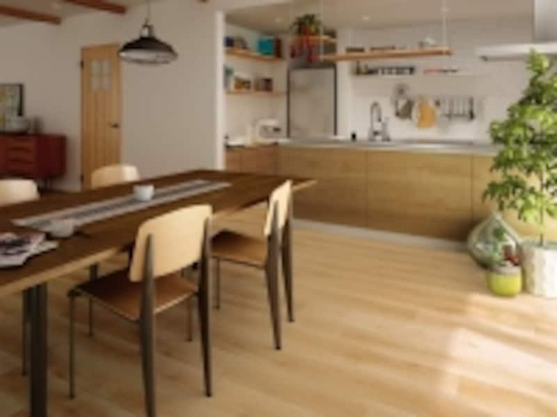 住宅に用いられる内装材は多種多様。希望する素材を展示するショールームは積極的に利用したい。[トリニティ<メープル柄>]undefinedDAIKENhttp://www.daiken.jp/