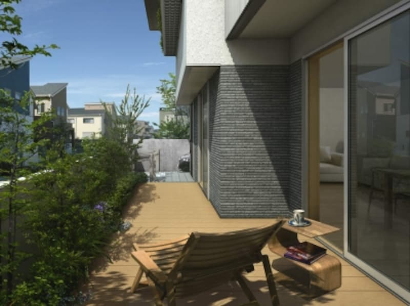 敷地環境や建物に合わせてプランニングが可能。[リウッドデッキ200FD]undefinedYKKAPundefinedhttp://www.ykkap.co.jp/