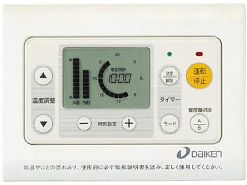 LDなどの大スペースに適するA・B面切り替えタイプ。薄壁でも既存の壁にも設置可能。[電気式用部材あたたか12用コントローラーCR-N1502面切り替えタイプ]undefinedDAIKENhttps://www.daiken.jp/