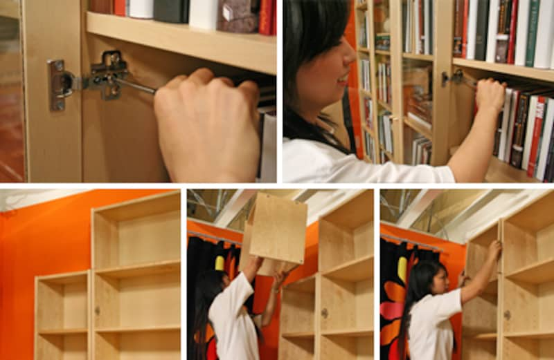 大切な本の収納には、扉付きの書棚がお薦め