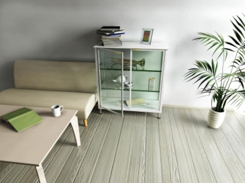 色数を抑えて狭い部屋を広く見せる
