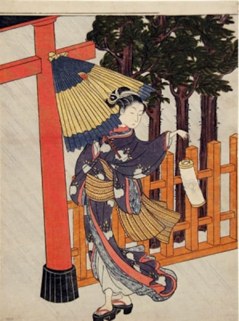 重要美術品undefined雨夜の宮詣undefined鈴木春信筆undefined江戸時代・18世紀undefined東京国立博物館蔵
