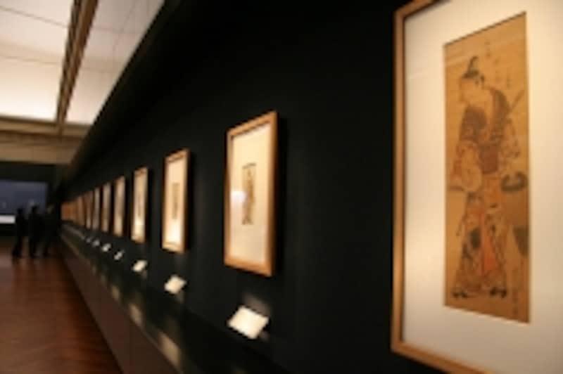本館10室(浮世絵の展示風景)