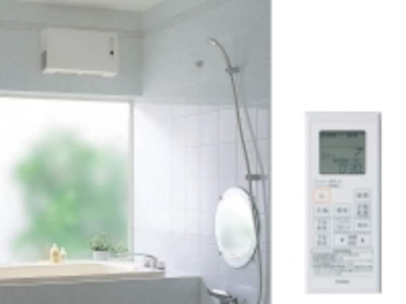 在来工法の浴室にも適する壁掛タイプ。200V温風ですばやく暖房可能。undefined[三乾王undefinedTYR600シリーズundefined200CV壁掛けタイプundefined戸建住宅向けundefined(左)浴室ユニットundefined(右)ワイヤレスリモコン]undefinedundefinedTOTOundefinedhttp://www.toto.co.jp/