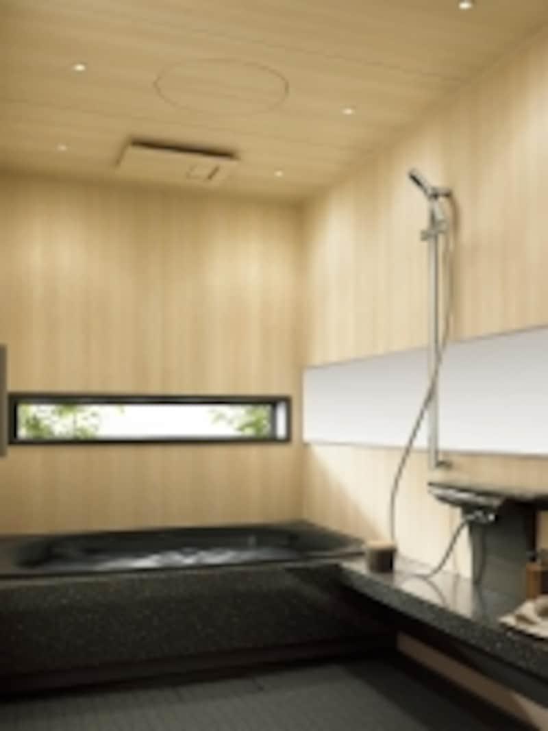 センサーで浴室内の結露量と温度・湿度を検知、運転パターンを選定。浴室内をカビが繁殖しにくいクリーンな環境に保つ。[「ナノイー」搭載undefinedカビシャット暖房換気乾燥機(ヒノキ柄)(200V)LクラスBNL1102]undefinedパナソニックエコソリューションズ