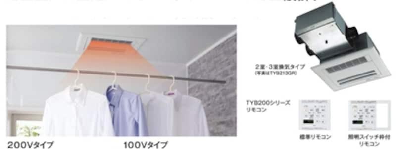 浴室の空間もすっきりとおさまる厚み12ミリの薄型設計のビルトインタイプ(天井埋め込み)。[浴室換気暖房乾燥機undefined三乾王undefinedTYB200シリーズ]undefinedundefinedTOTOundefinedhttp://www.toto.co.jp/