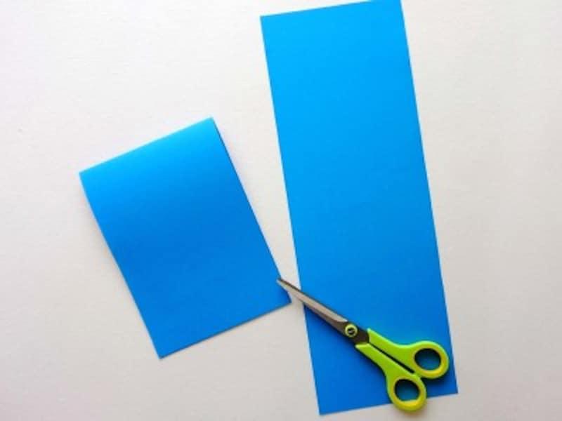 父の日手作りプレゼントポップアップカードは色画用紙半分を使って作る