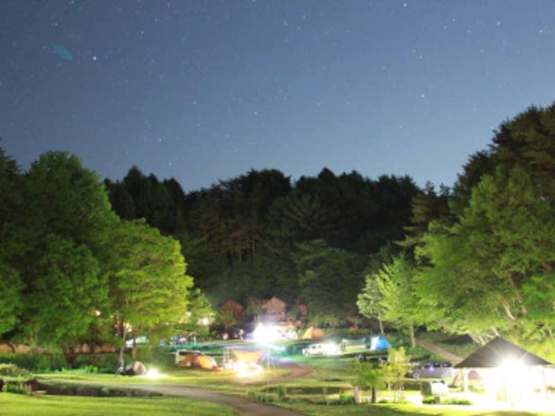秋キャンプ冬キャンプ子連れにおすすめ 星の降る森
