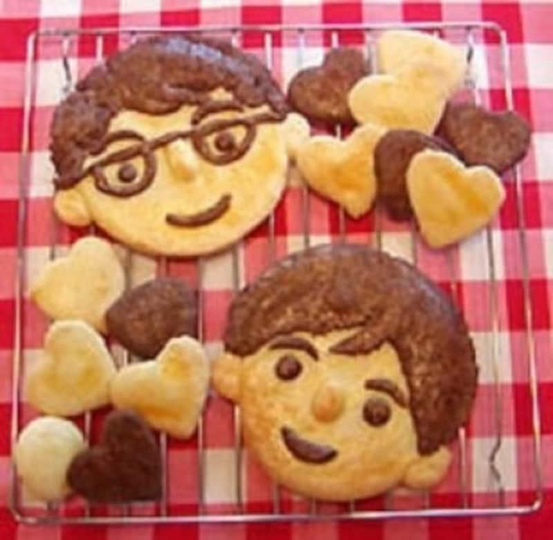 父の日手作りプレゼント製作お父さんの顔クッキー