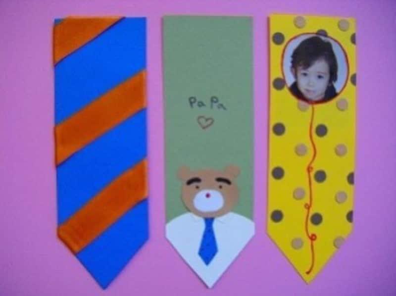父の日手作りプレゼント製作ネクタイ風しおり