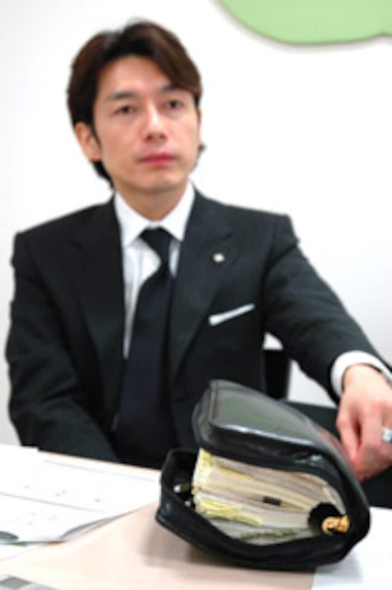 熊谷氏と手帳