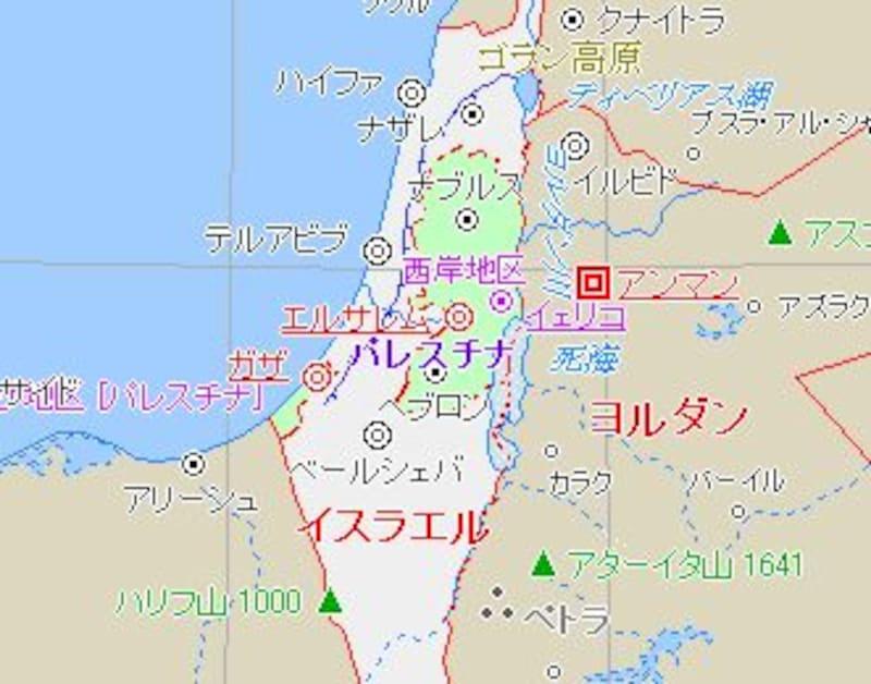 パレスチナの地図