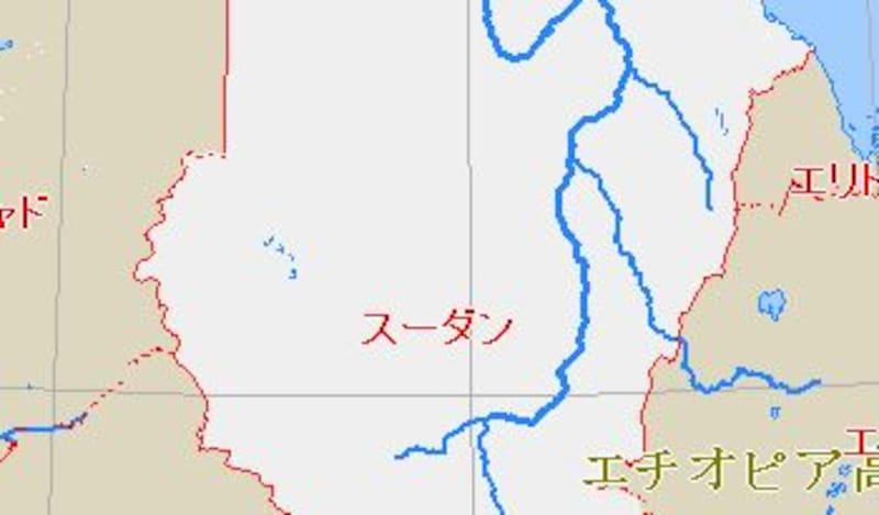 ダルフールの地図