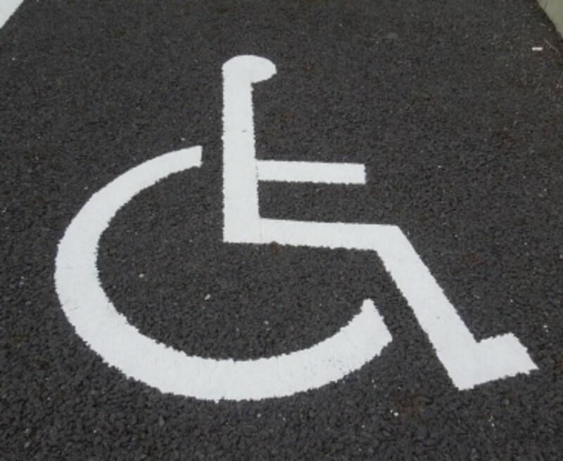 身体障害者マークの写真