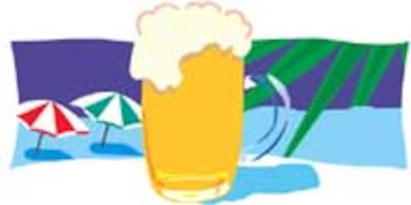 暑い季節はビールの販売が伸びる