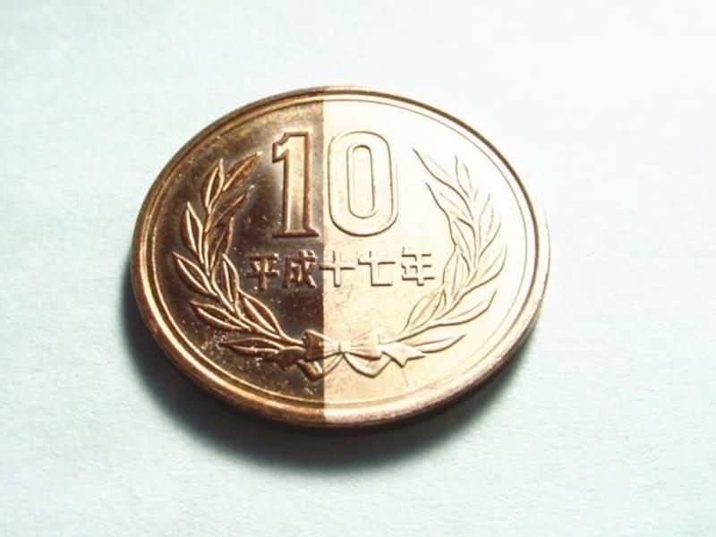 10円玉を使った実験