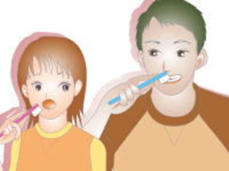 歯ブラシによるブラッシング