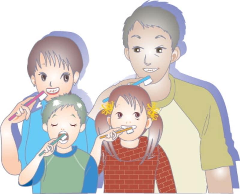 歯ブラシを教える