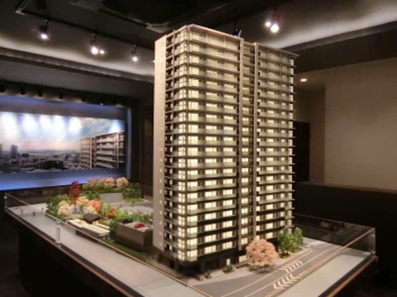 プラウドタワー川口の完成予想模型